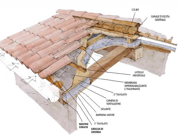 Realizzazioni roma e viterbo for Sezione tetto in legno dwg